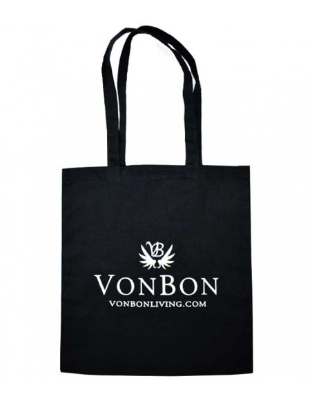 VONBON sustainable fashion cotton bag. VONBON fabric shopping bag