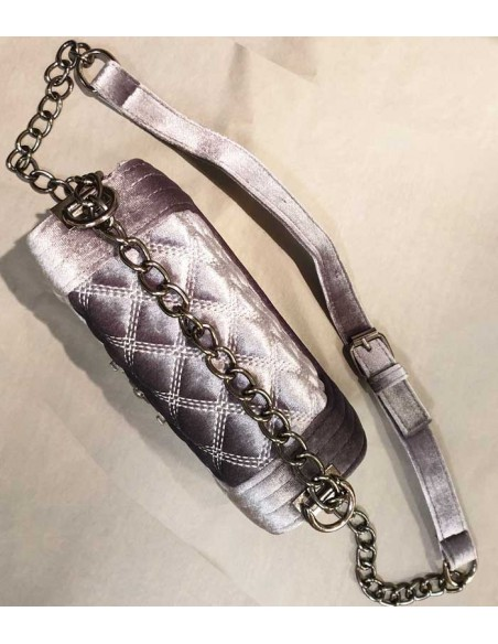 quilted velvet bag with chain, chanelbag
