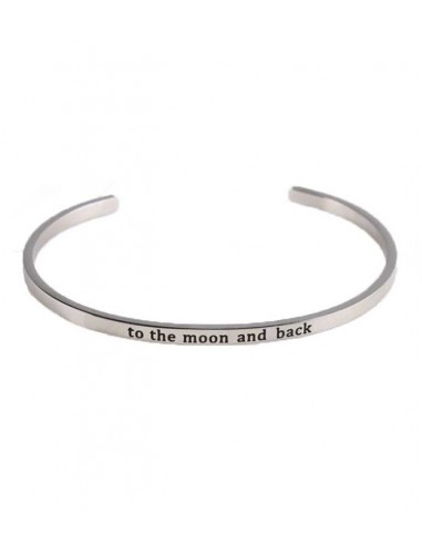 VONBON armband i rostfritt stål med texten: to the moon and back