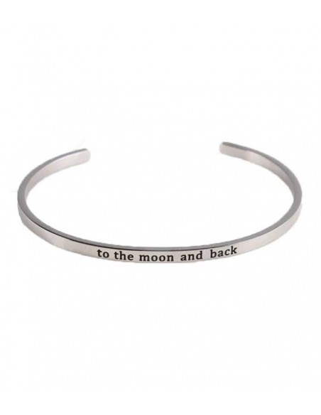 VONBON Bracelet- Stain less steel with letter: To the moon and back