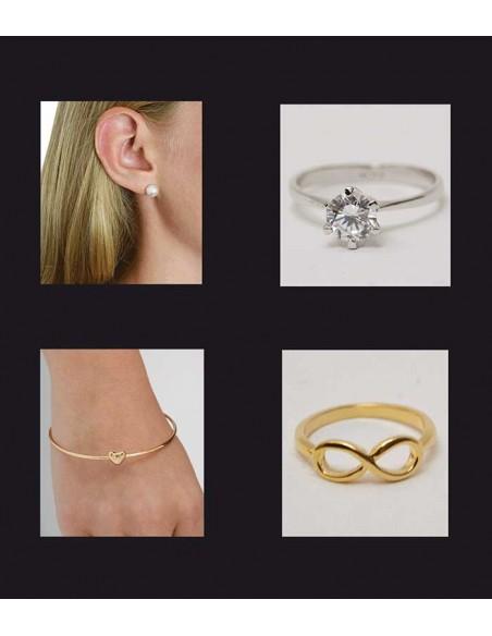 VONBON klassisk diamant ring i silver