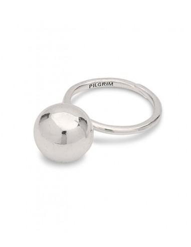 Pilgrim smycken - stor silver ring  med en kula från Pilgrim jewelry