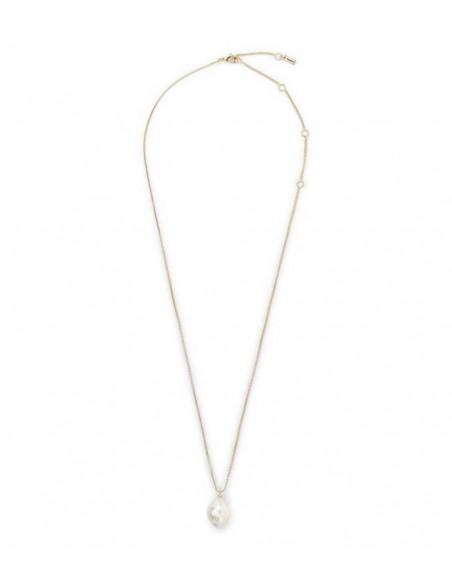 Pilgrim halsband AMA-gulkedja med en stor sötvattenspärla